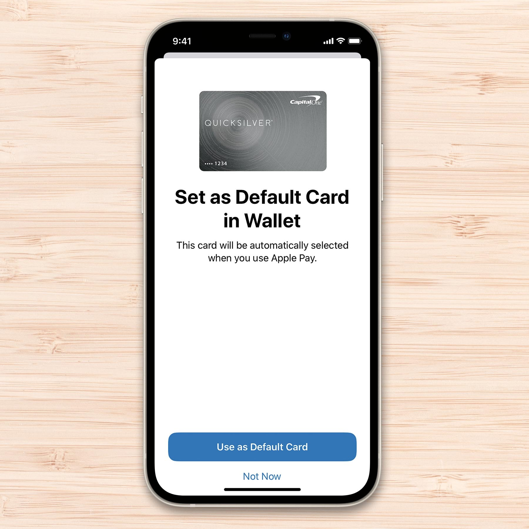 Setting up Apple Pay on an iPhone