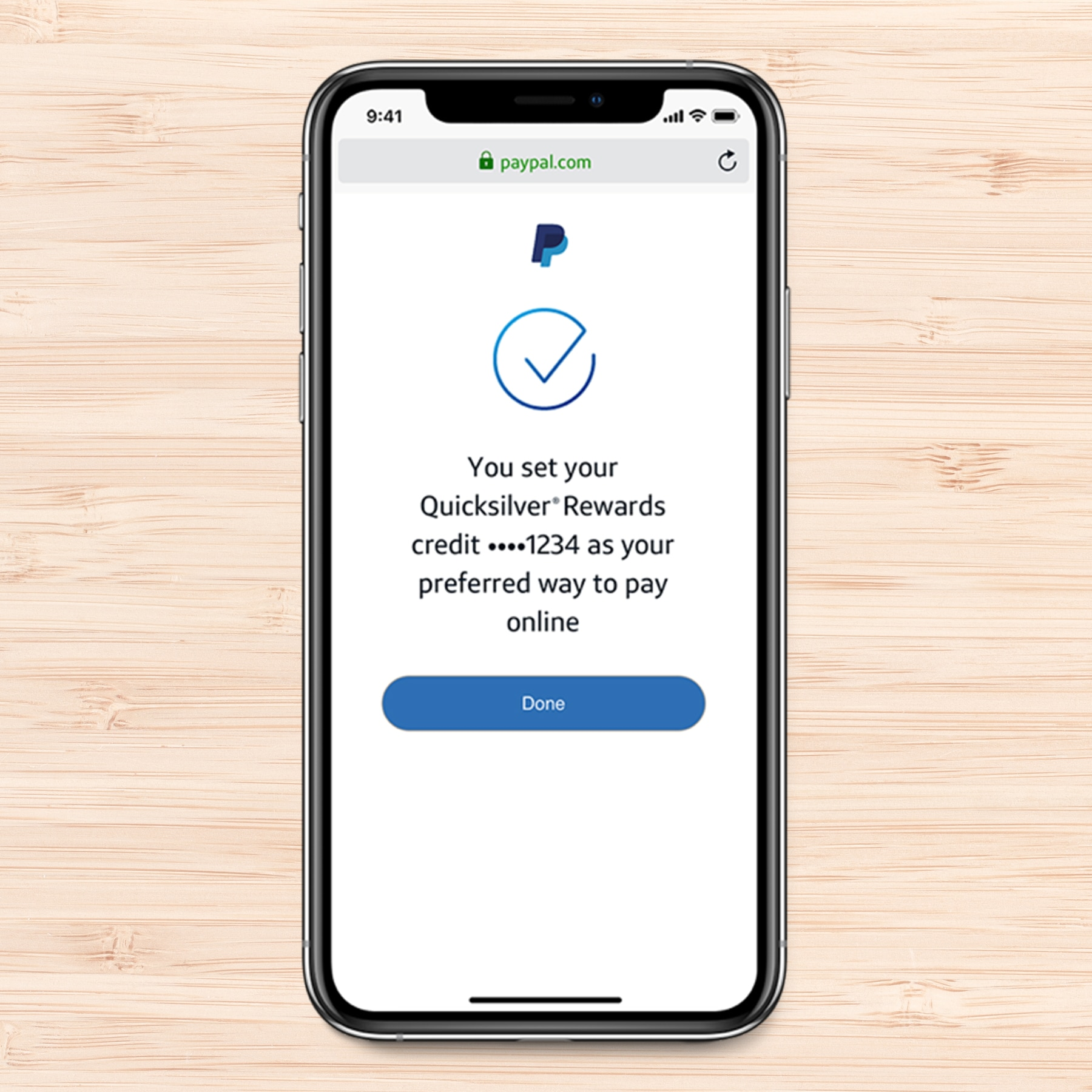 Setting up  PayPal on a Phone